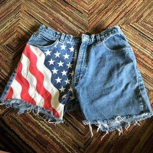 Vintage American Flag Shorts